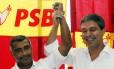 Lindbergh Farias anuncia chapa com PSB de Eduardo Campos
