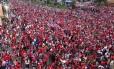 Milhares de costarriquenhos foram às ruas comemorar a vaga às oitavas de final