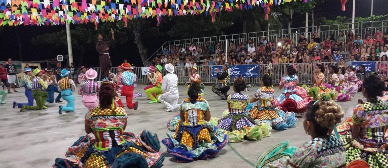 Quase carnaval. Uma quadrilha ensaia em Fortaleza Foto: Agência O Globo / Ruben Berta