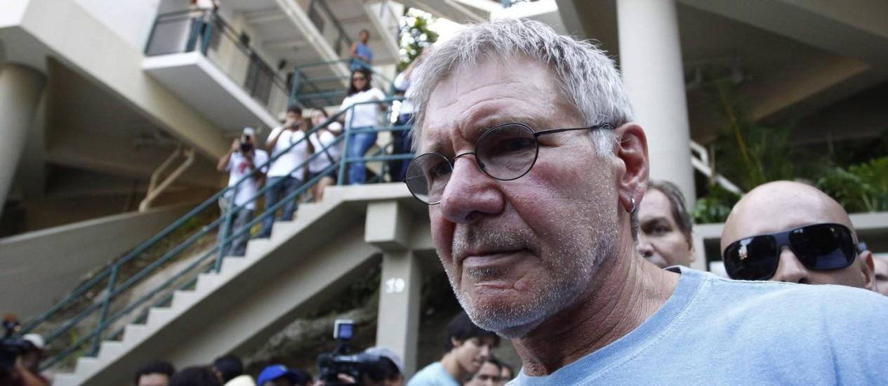 Após quebrar a perna, Harrison Ford para por seis meses Foto: Pablo Jacob / Agência O Globo