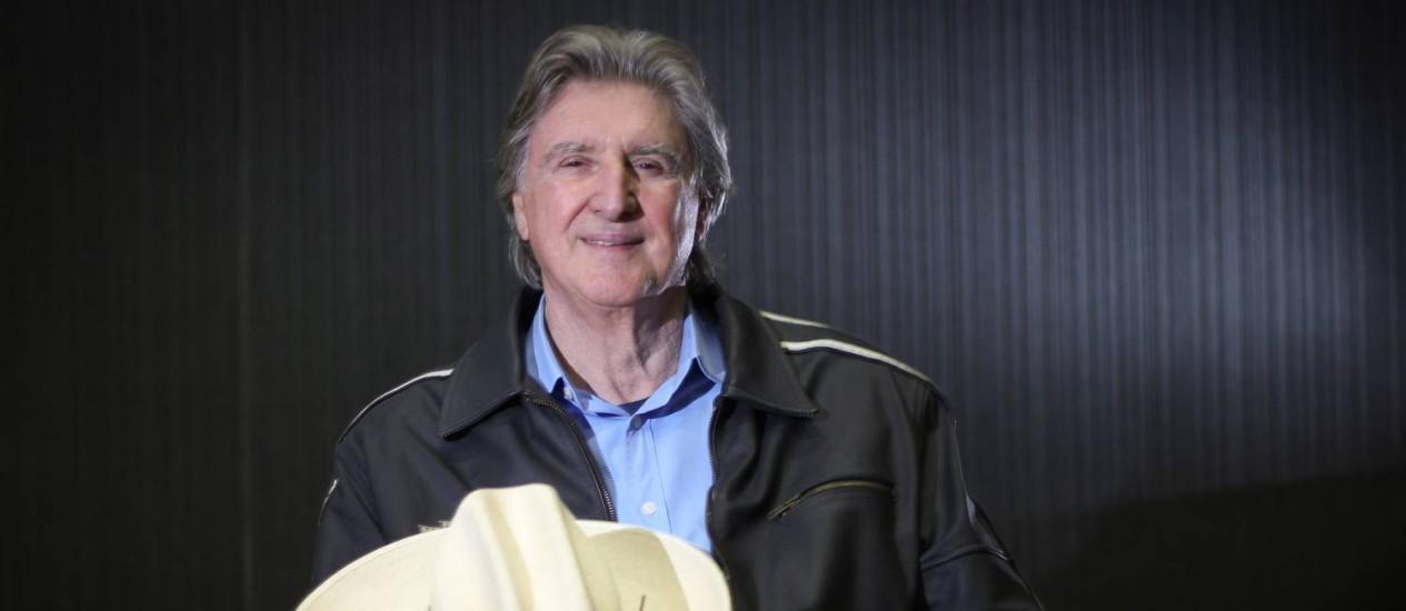 Cantor Sérgio Reis tem alta hospitalar Foto: Marcos Alves / Agência O Globo