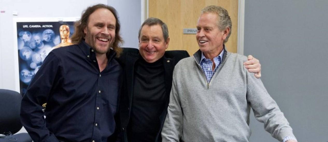 Mark Crawford, Tom Sherak e Anthony Goldschmidt Foto: Reprodução