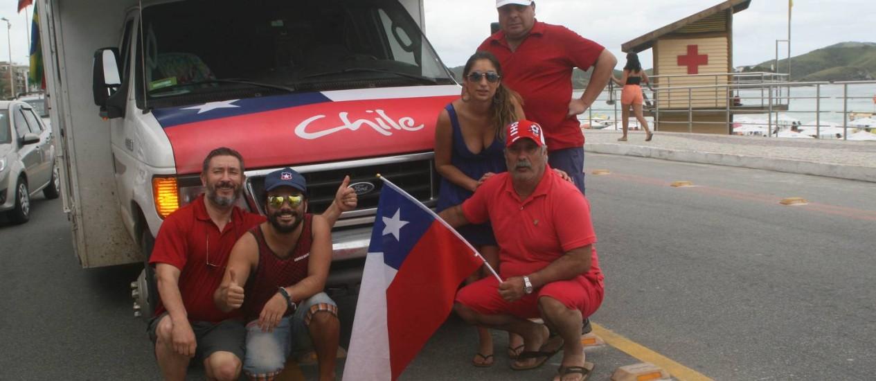 O chileno Ignário Merino veio com a família de motorhome para o Brasil e está passeando por Cabo Frio, Arraial do Cabo e Búzios Foto: Walmor Freitas / O Globo
