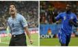Luis Suárez e Mario Balotelli são as esperanças de gols de Uruguai e Itália no confronto decisivo entre as equipes, terça-feira, em Natal