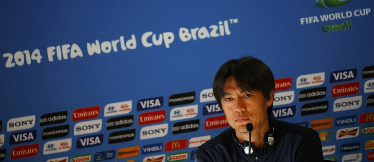 Hong Myung Bo: ' Temos que nos defender, de maneira que possamos também marcar um gol' Foto: MURAD SEZER / REUTERS