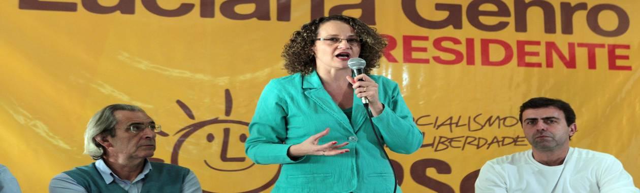 <br /> O PSOL oficializou a candidatura da ex-deputada Luciana Genro (RS) à Presidência da República durante convenção do partido em Brasília<br /> Foto: Givaldo Barbosa