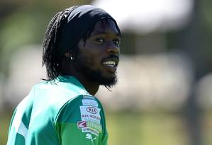 O atacante Gervinho é uma das armas da Costa do Marfim Foto: ISSOUF SANOGO / AFP