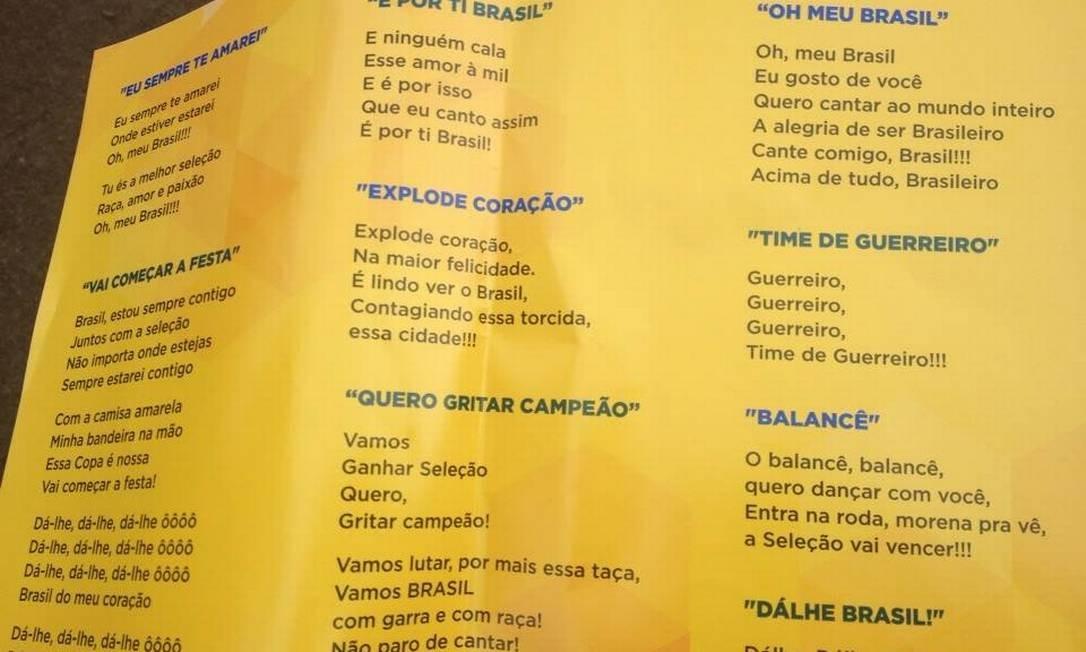 88d2b8a445  Torcidas organizadas  da seleção apresentam seus  hits  para os jogos do  Brasil - Jornal O Globo