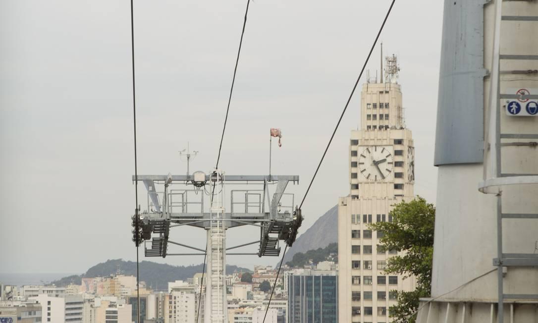 Teleférico da Providência: obras prontas desde maio de 2013 Foto: Bia Guedes / Agência O Globo
