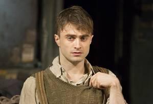 Daniel Radcliffe em 'The Cripple of Inishmaan' Foto: SARA KRULWICH / NYT