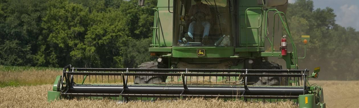 Campo de trigo em Illinois: colheita em queda Foto: Daniel Acker / Bloomberg