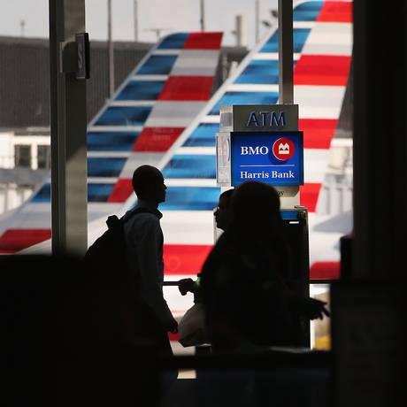 Aviões da American Airlines no aeroporto internacional de O'Hare, em Chicago Foto: AFP-17-4-2014