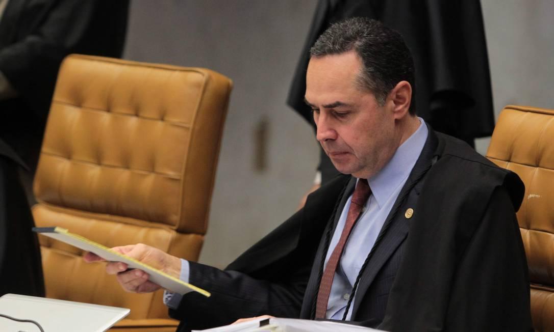 """Barroso. """"Estamos dando uma orientação para as varas de execução penal de todo o país. Foto: Givaldo Barbosa/18-06-2014 / Agência O Globo"""