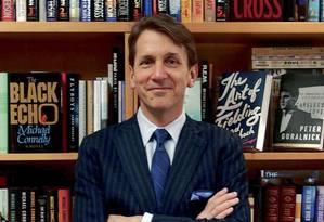 Michael Pietsch, CEO do Hachette Book Group: compra do Perseus está ligado à disputa com a gigante do varejo online Amazon Foto: Keith Hayes/New York Times