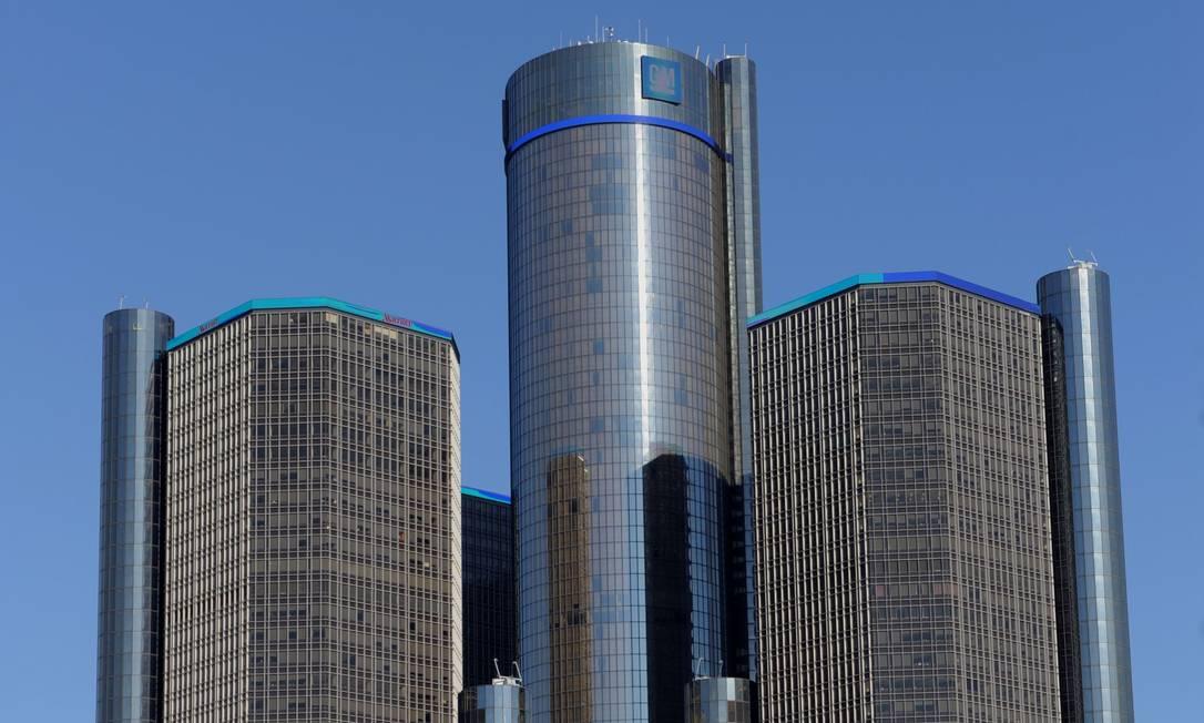 O prédio da General Motors, em Detroit, de onde saiu o comunicado de que a ignição, responsável pelo recall convocado na terça-feira, foi fabricada na China Foto: / AFP/STAN HONDA/10-01-2012