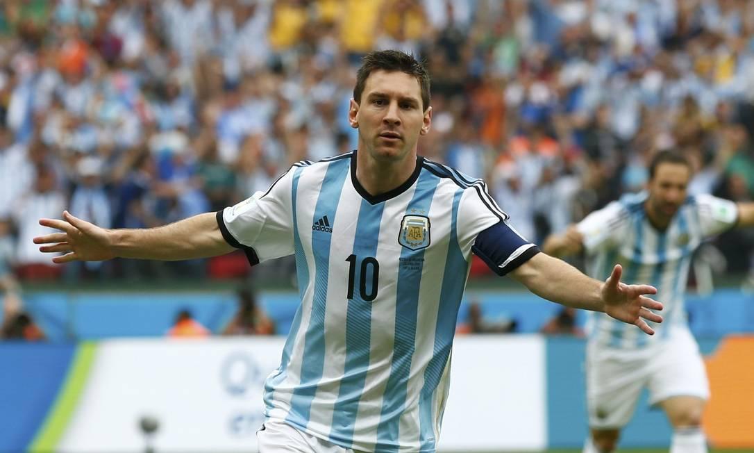Messi tem quatro gols na Copa, dois deles marcados sobre a Nigéria, no Beira-Rio, e os outros contra Bósnia e Irã Foto: DARREN STAPLES / REUTERS