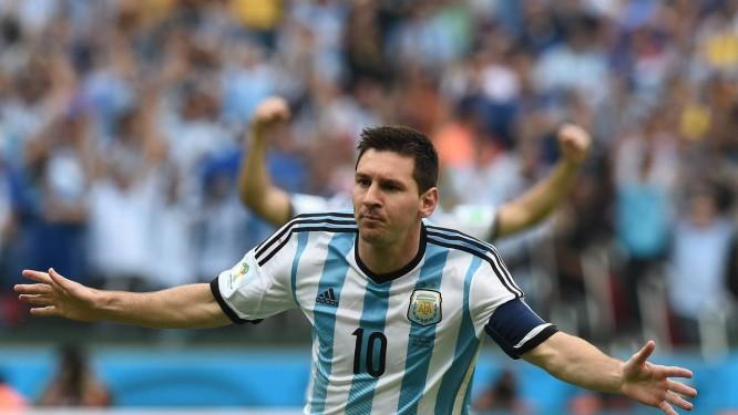 309e7661c4 Messi comemora contra a Nigéria  camisa 10 marcou dois gols na partida  Foto  JEWEL