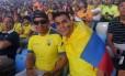 Xavier (à direita) e o amigo Ismael no Maracanã