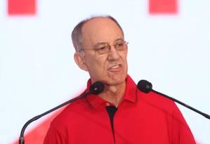 O presidente nacional do PT, Rui Falcão, durante Convenção Nacional do PT Foto: Givaldo Barbosa/21-06-2014 / Agência O Globo