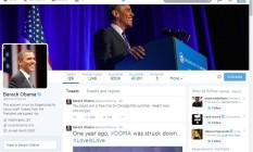 Conta do presidente americano é a que possui maior número de seguidores Foto: Reprodução