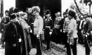 O arquiduque Francisco Ferdinando pouco antes de ser assassinado pelo sérvio-bósnio Gavrilo Princip, membro do grupo Mão Negra Foto: AFP