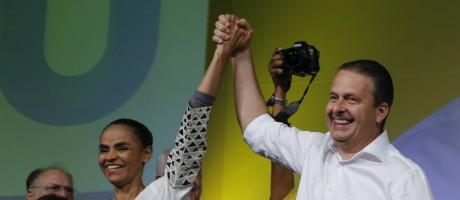 Convenção do PSB oficializa chapa de Eduardo Campos e Marina Silva à Presidência Foto: Jorge William / Agência O Globo