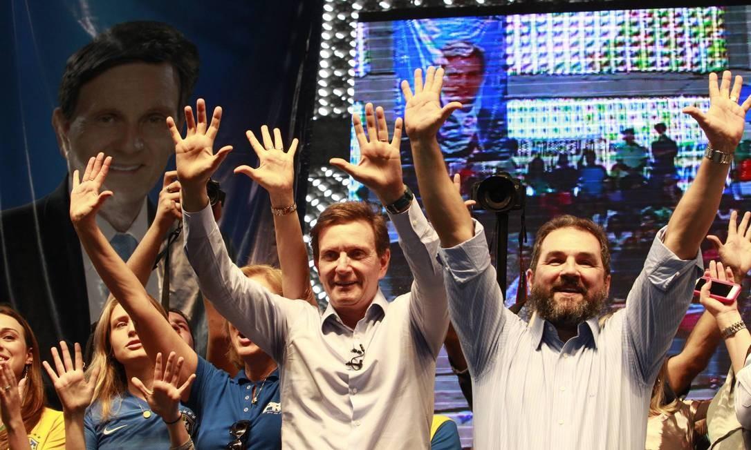 Marcelo Crivella teve candidatura homologada em convenção no Rio Foto: / Domingos Peixoto /Agência O Globo