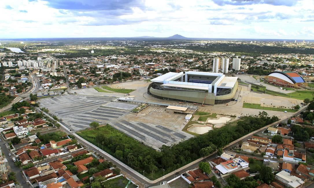 Arena Pantanal, em Cuiabá: governo prepara licitação para passar a operação do estádio para a iniciativa privada Foto: / Edson Rodrigues/Secopa