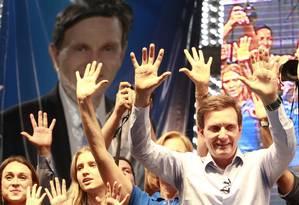 O senador afirmou que concorrer ao governo do Rio sem aliança com outros partidos não o desmerece Foto: Domingos Peixoto / Agência O Globo