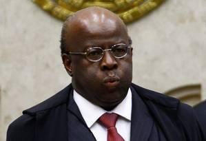 Sessão no Supremo Tribunal Federal (STF) marcou a despedida do ministro Joaquim Barbosa, que irá se aposentar Foto: André Coelho / O Globo