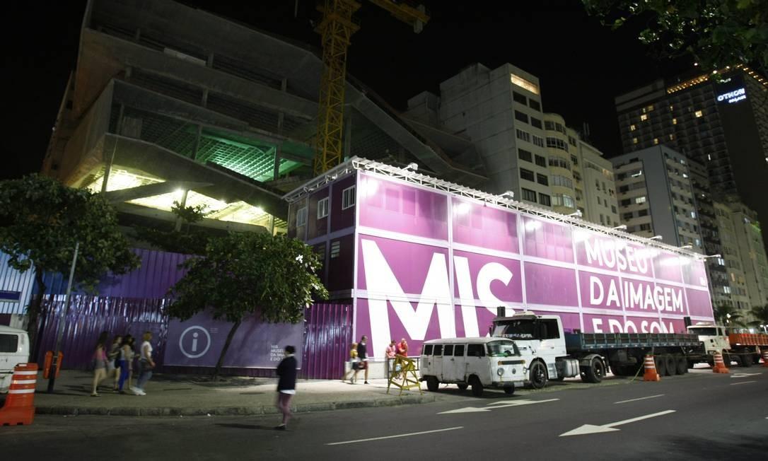 Nova sede do Museu da Imagem e do Som, em Copacabana, entra na fase final das obras Foto: Guilherme Leporace / O Globo