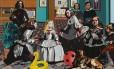 """""""La salita"""", tela da Equipe Crónica com referências clássicas, é uma das mais de cem obras na exposição """"Mitos del pop"""", no Thyssen-Bornemisza, em Madri"""