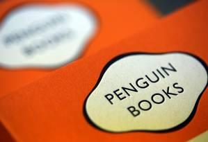 O logo da Penguin: grupo cresce no mundo de língua espanhola com aquisição da Santillana Foto: Chris Ratcliffe / Bloomberg/5-4-2013