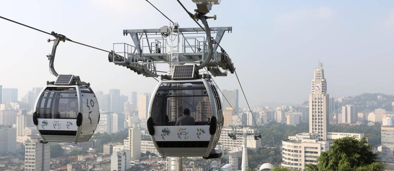 Prefeitura inaugura teleférico no Morro da Providência Foto: Beth Santos / Divulgação/Prefeitura do Rio