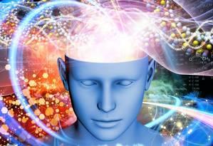 Imagem representa atividade cerebral sob efeito de drogas psicodélicas Foto: Imperial College London