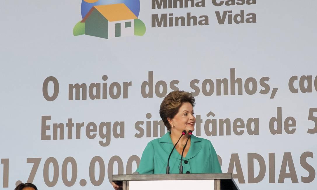 Presidente Dilma Rousseff durante entrega de unidades habitacionais do Minha Casa Minha Vida no DF Foto: Roberto Stuckert Filho / PR