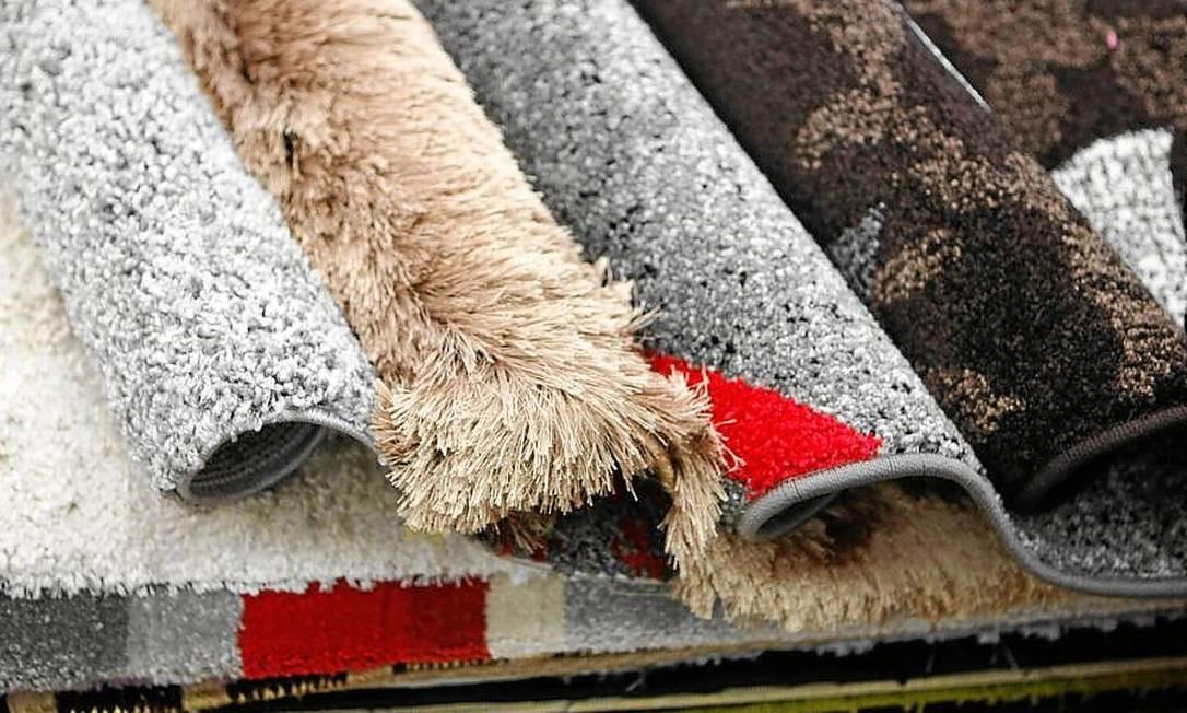 <cutline_leadin>Variedade. </cutline_leadin>As opções de tapetes da loja Morena Decor, em Teresópolis Foto: Eduardo Naddar