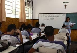Currículo escolar determinaria o que cada aluno em cada etapa escolar deve aprender Foto: Marcia Costa / Agência O Globo