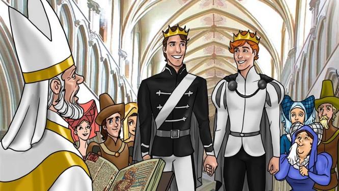 Livro tem casamento entre dois rapazes em meio a um reino Foto: Divulgação