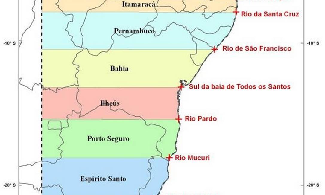 Novo Mapa De Capitanias Hereditarias Poderia Constar Em Livros