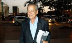 Dirceu encerra segundo dia de trabalho externo em Brasília Foto: André Coelho / Agência O Globo