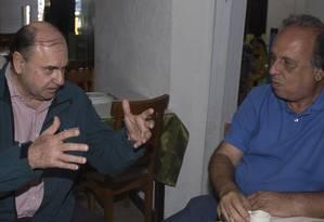 Cesar Mais, ao lado de Pezão: candidato ao Senado teve queda no patrimônio declarado, com R$ 50 mil Foto: Antonio Scorza/06-7-2014 / Agência O Globo