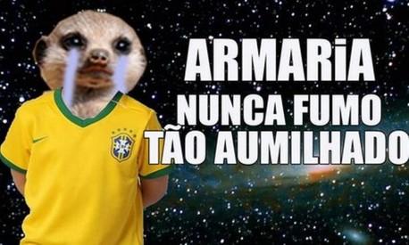 Nas redes sociais, derrota vexatória da seleção brasileira virou motivo de piadas Foto: Reprodução