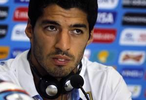 Suárez teve a sua punição de nove jogos e quatro meses mantida pela Fifa Foto: Carlos Barria / Reuters