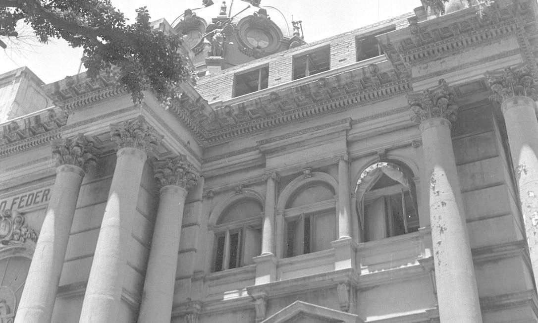 A fachada do palácio na época em que era sede do Senado Federal Foto: Arquivo / Agência O Globo