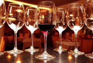 Taças de vinho Foto: Berg Silva / Agência O Globo