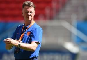 O técnico da Holanda, Louis Van Gaal, disse que o objetivo é terminar a Copa em terceiro lugar Foto: Evaristo Sá / AFP