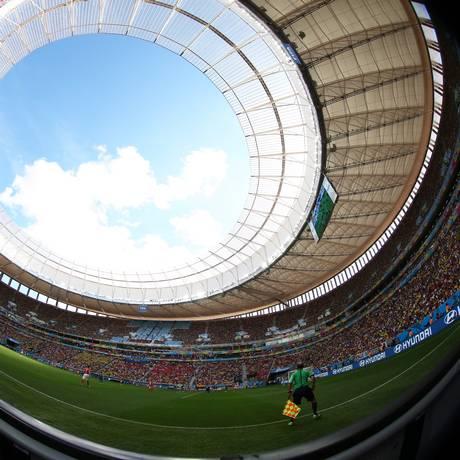 Mané Garrincha, em Brasília, um dos antigos estádios transformados em arenas para a Copa do Mundo Foto: Jorge William / O Globo