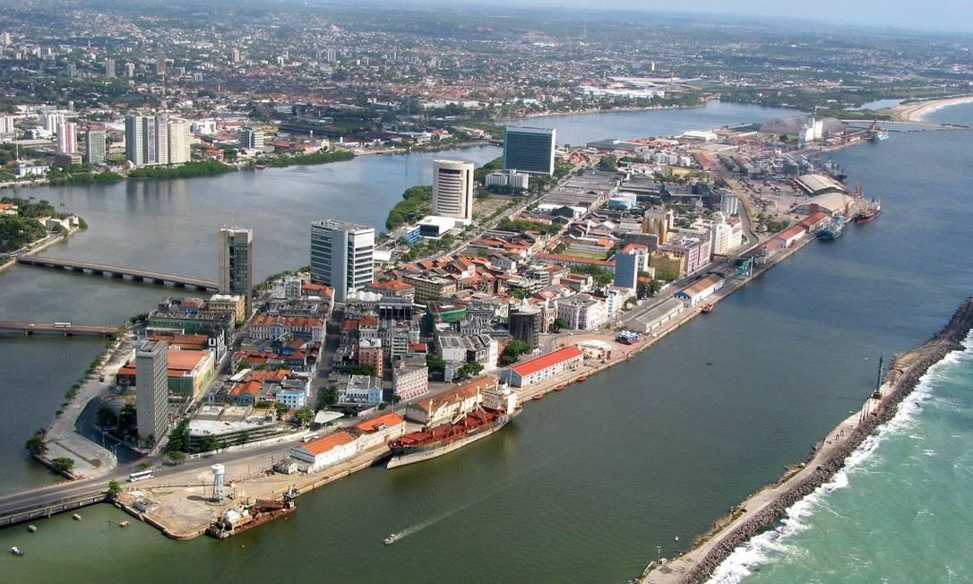 Imagem aérea do bairro do Recife Antigo, onde fica o Porto Digital Foto: / Divulgação