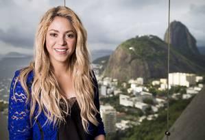 Shakira durante entrevista exclusiva para O GLOBO, na Sony Music, na Torre do Rio Sul Foto: Simone Marinho / Agência O Globo